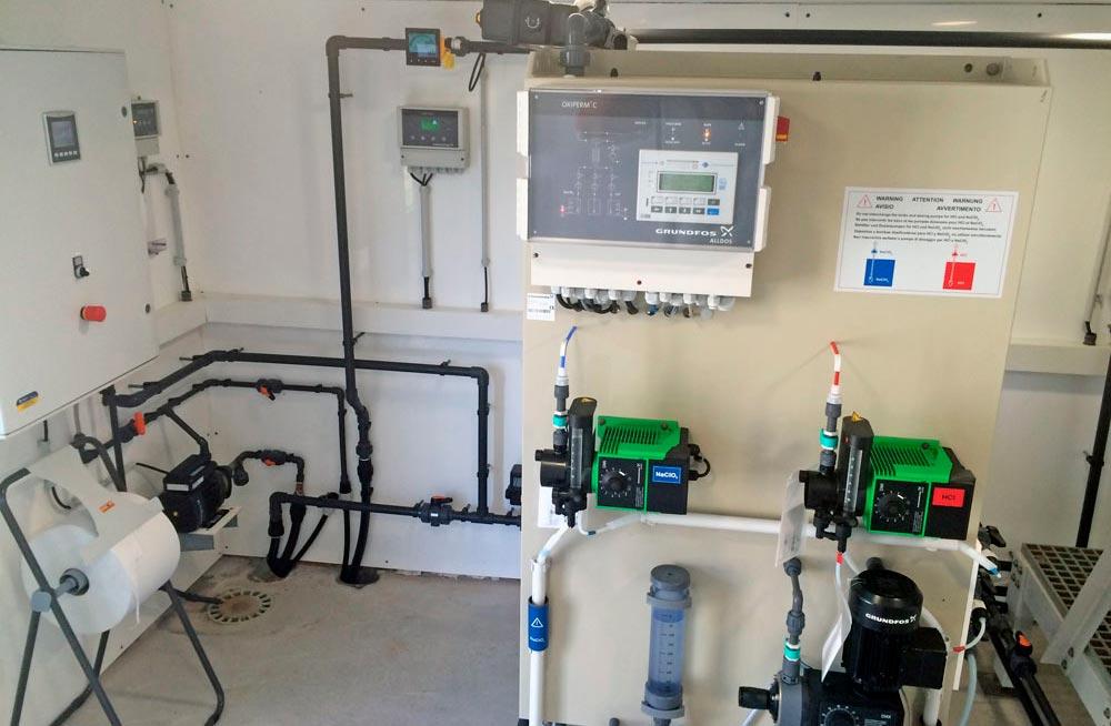 Instalación generador de dióxido de cloro ETAP Olesa de Montserrat