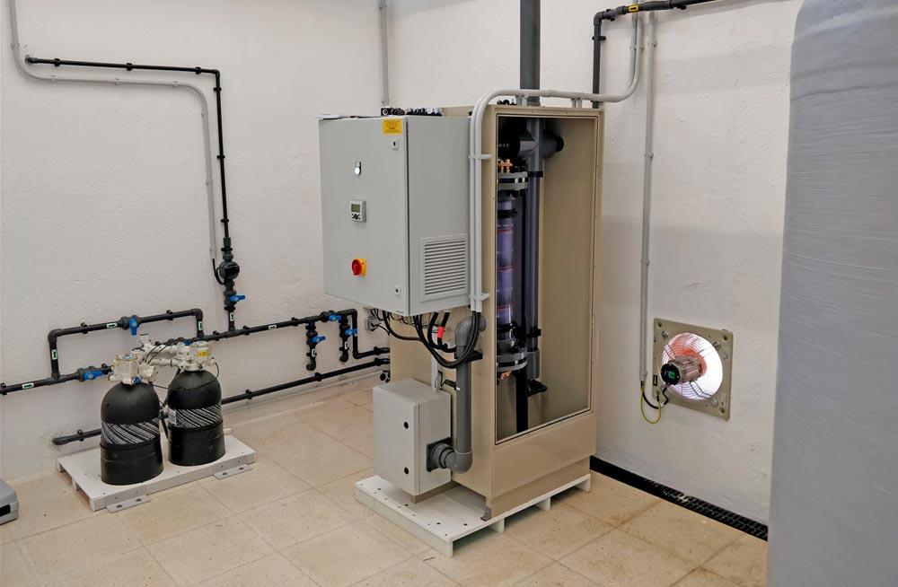 Instalación Electrocloración Selcoperm SES-2000 34kg/día